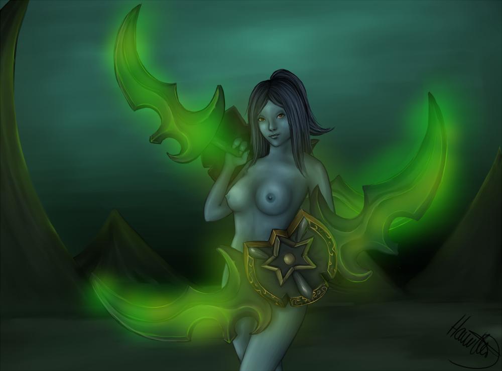 world female of troll warcraft Trish (devil may cry)