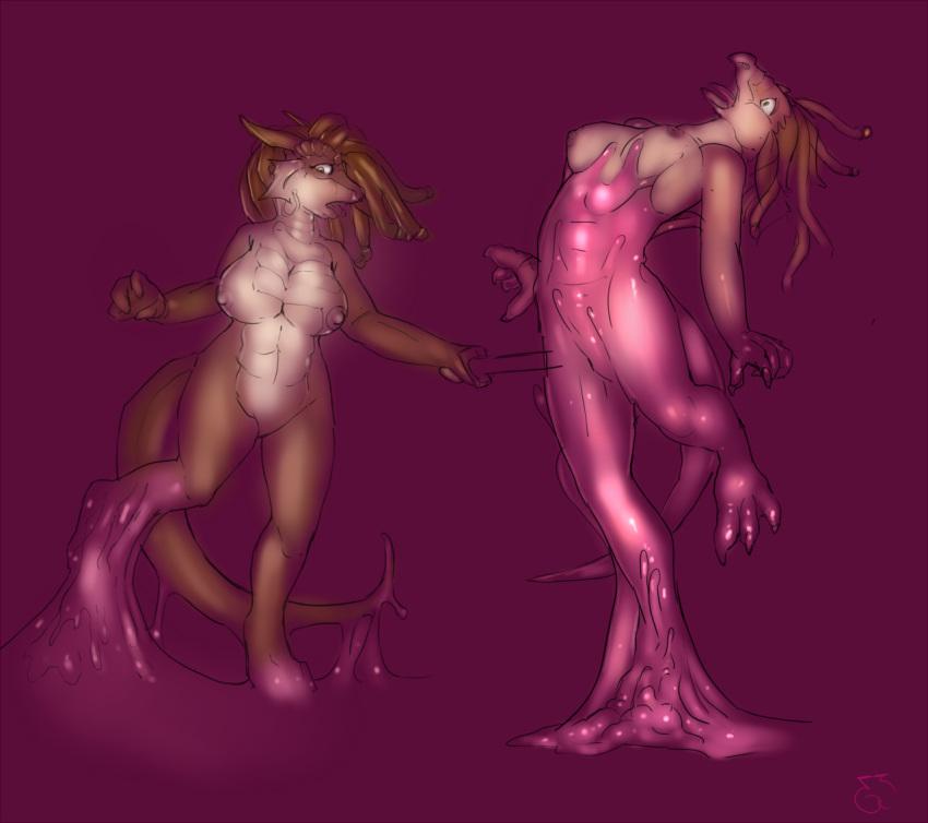 naked girl dragon a and The amazing world of gumball giantess