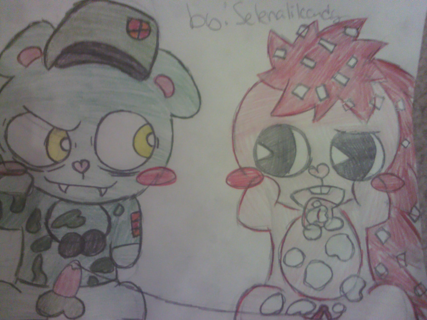 friends happy flaky and flippy tree Highschool of the dead special